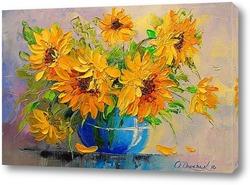 Картина Букет подсолнухов в вазе