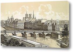 memories about Paris - vintage background