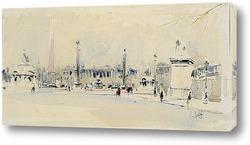 Картина Париж, Площадь Согласия