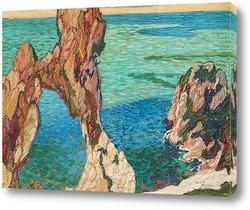 Картина Прибрежная сцена, Капри.