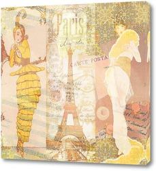 Постер Парижская ретро мода