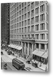 Постер Универмаг Маршалл Филд и Ко., государственная улица, 1908