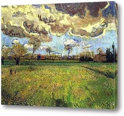 Поле яровой пшеницы на восходе солнца, 1889