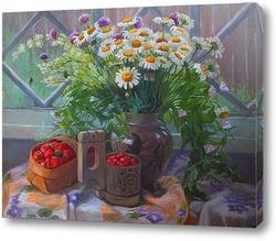 В саду за чаем