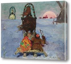 Тройка в снегу