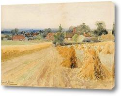 Картина Урожай пейзаж