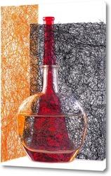 Постер Фотограффити. Красная бутылкаю