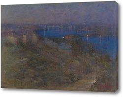 Картина Сиднейская гавань ночью
