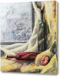 Картина Натюрморт с бутылками