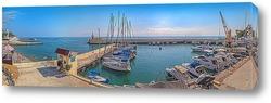 """Постер Панорамный вид морской гавани со здания """"Центра парусного спорта"""". Сочи"""