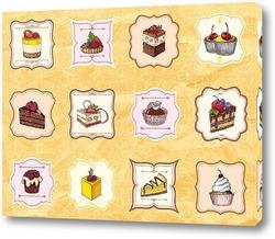Постер Вкусные десерты