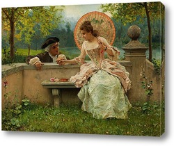 Картина Любовный разговор в парке