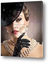 Постер Ретро портрет женщины