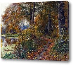 Весенний пейзаж с рекой