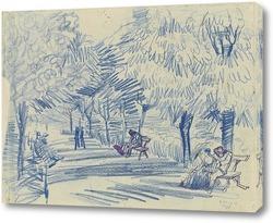Картина Аллея в парке