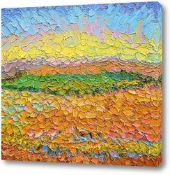 Постер Пшеничное поле с виноградником. Тамань.