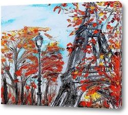 Картина Осень в Париже