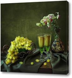 Постер С орхидеей и виноградом