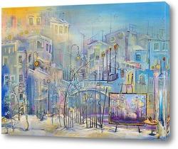 Постер Мастерская с видом на утренний городок