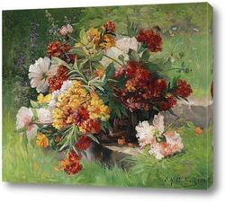 Натюрморт с розами в миске