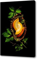 Постер Виньетка с кусочками тыквы