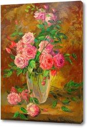 Постер Букет роз в вазе