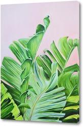 Тропические листья маслом