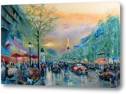 Постер Улицы Парижа (по мотивам Т. Кинкейд)