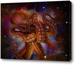 Картина осьминог и звезды