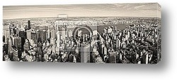 Постер New York City Manhattan panorama aerial view