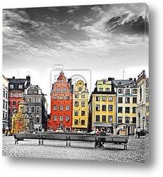 Улица в старом городе.Стокгольм