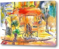 Картина Парижское кафе