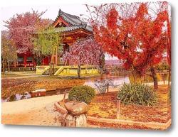 Постер Осенний дворик