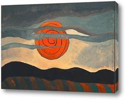 Картина Красное солнце