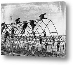 Сборка купола для проведения фестиваля,1951г.