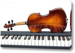 Постер Клавиши и скрипка