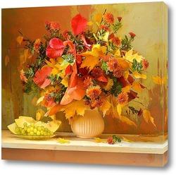 Ноябрьский костёр. Хризантемы