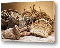 Постер Flour and traditional bread