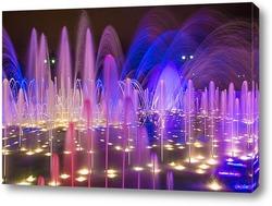 Постер Яркие краски фонтана в усадьбе Царицыно