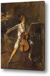 Картина Игра на виолончели