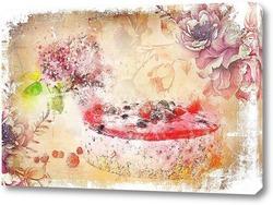 Постер Воздушное пирожное