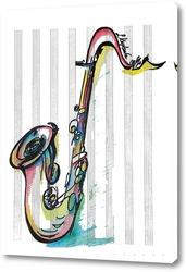 Постер Саксофон