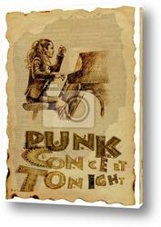 Постер Девушка, играющая на фортепиано