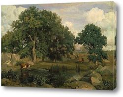Картина В лесу Фонтенбло