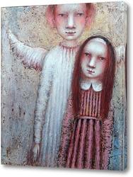 Картина С ангелом