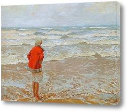 Картина Девушка смотрит на море