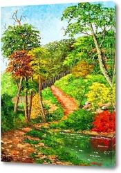 Картина Красота в деревне