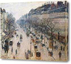 Бульвар Монмартр зимним утром