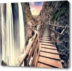 Постер Лестница над водопадом