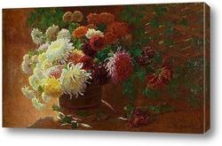 Картина Натюрморт с хризантемами